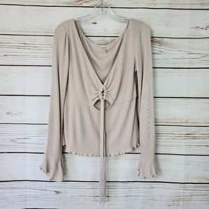 Intimately Free People | Shimmer Ruffl Thermal Top